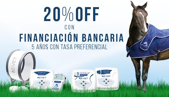 ¡20% OFF con FINANCIACIÓN BANCARIA!