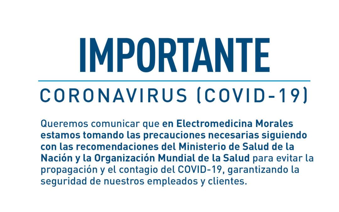 Importante – Coronavirus